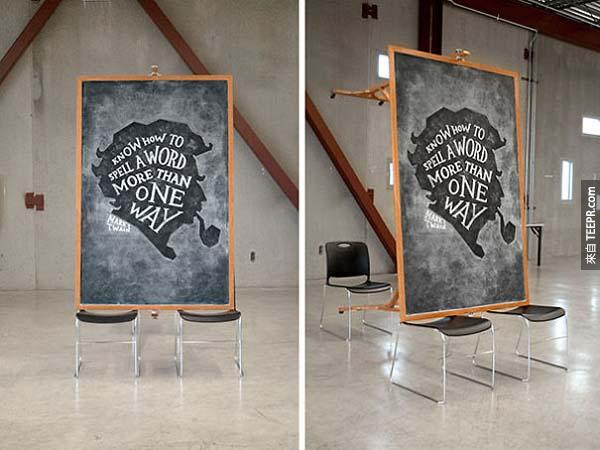 Banksy, Ellen Lupton, Claude Debussy, Nicole Jacek, Tavi Gevinson, J.M. Barrie, Stefan Sagmeister, Bill Cosby, Jessica Hirsche, and Nelson Mandela have all appeared on the chalkboards.