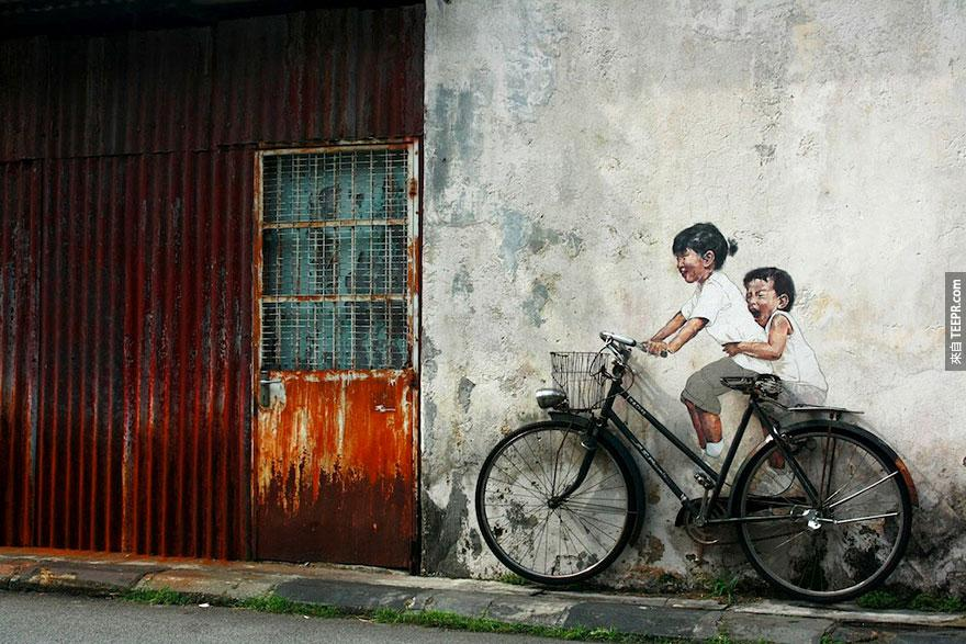 腳踏車,喬治城,馬來西亞 (Bicycle, George Town, Malaysia)