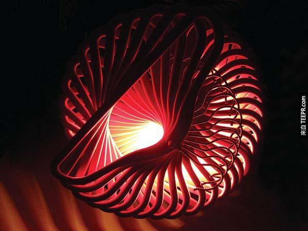 15.) 衣架也是一個很好用來做成吊燈的素材喔。
