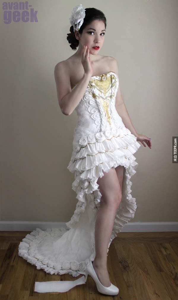 好漂亮的婚紗...等一下,你說這是用什麼做的?!