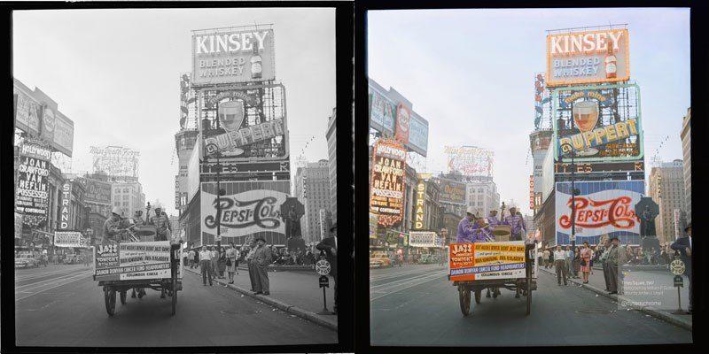 20個歷史黑白照被轉換成彩色照 轉換完對歷史完全改觀
