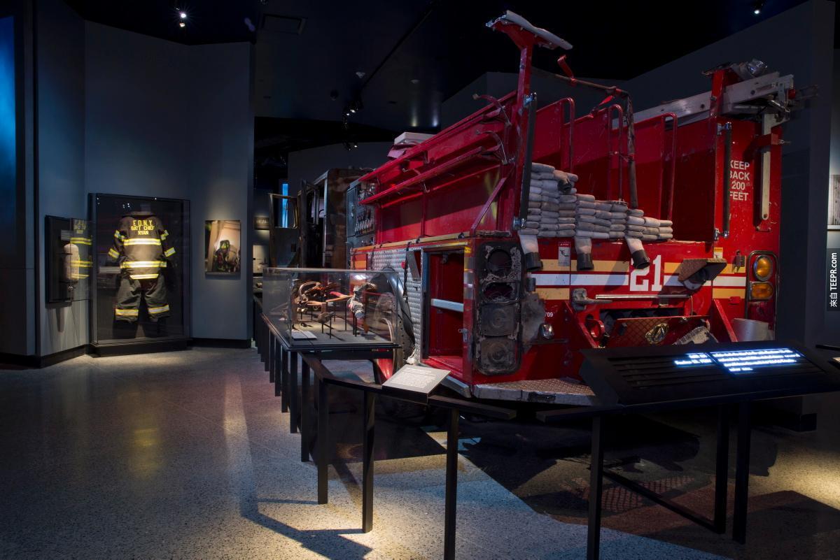 這就是911紀念博物館裡面所收藏的東西。看完後真的令我全身起雞皮疙瘩。