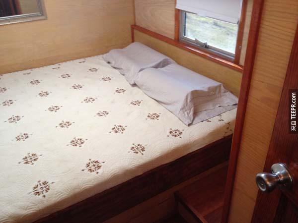 主臥室位在巴士的後半部。