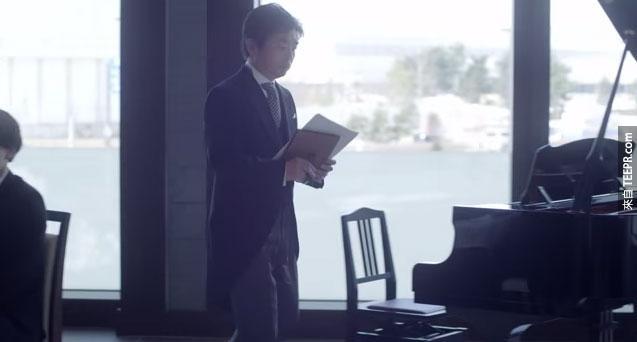 他沒有要致詞,反而要談鋼琴?