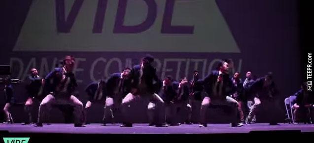 這支跳舞團隊在比賽中只得了第二名,但是卻紅遍整個網路。你看過就會知道為什麼了。