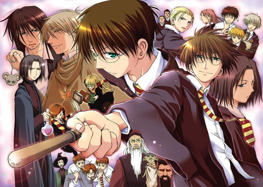 如果哈利波特是日本漫畫的話,會長得什麼樣子?超期待!