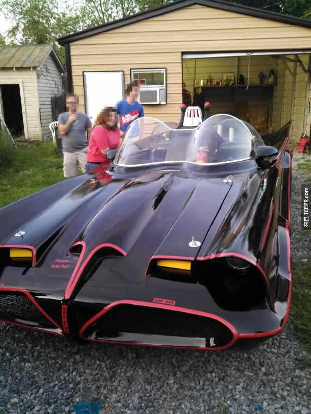 The car's owner said that he takes his vehicle to Comic Con all the time, where it gets plenty of attention from celebrities.