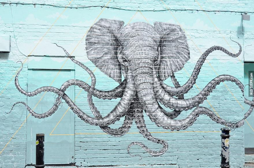 20個最多創意街頭藝術的城市。我好希望可以買下墨西哥牆上的那幅畫!