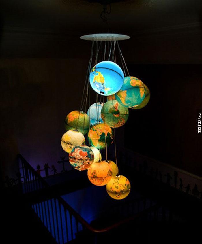 10) Globes.