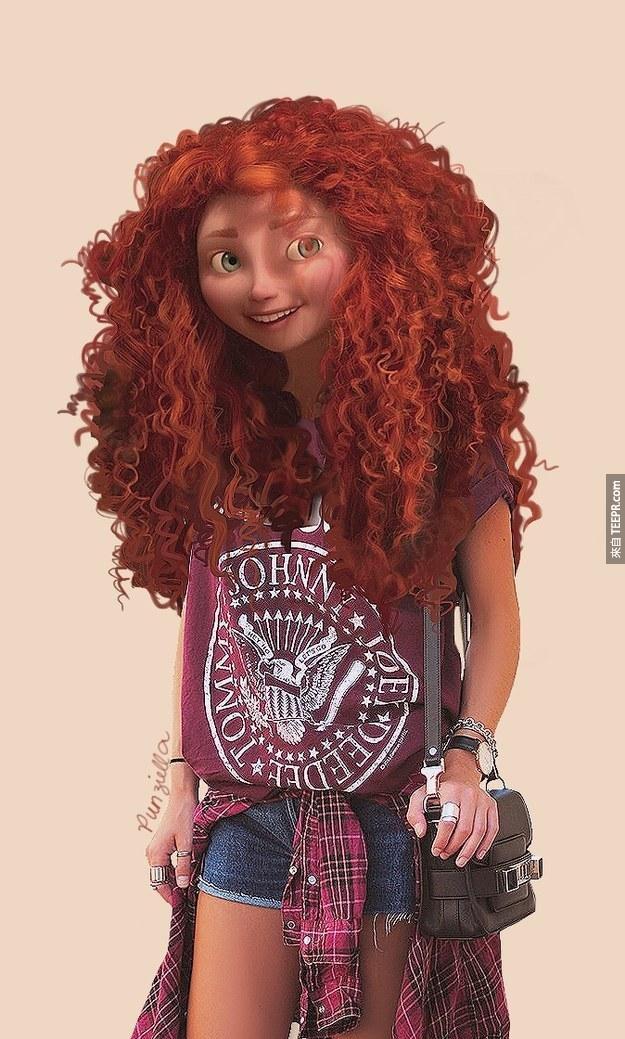 如果這些迪士尼的人物是現代人的話,他們就會長得像這樣。長髮公主太萌了!