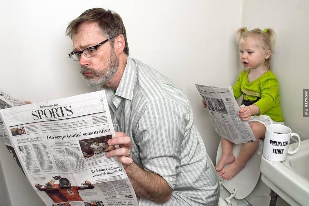 我原本以為這名自稱是全世界最好的爸爸的人患了妄想症,但是當我看到他做的事情之後...太酷了!