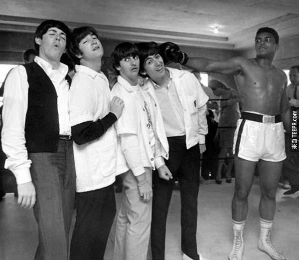 21)披頭四和拳王穆罕默德·阿里(1964)。
