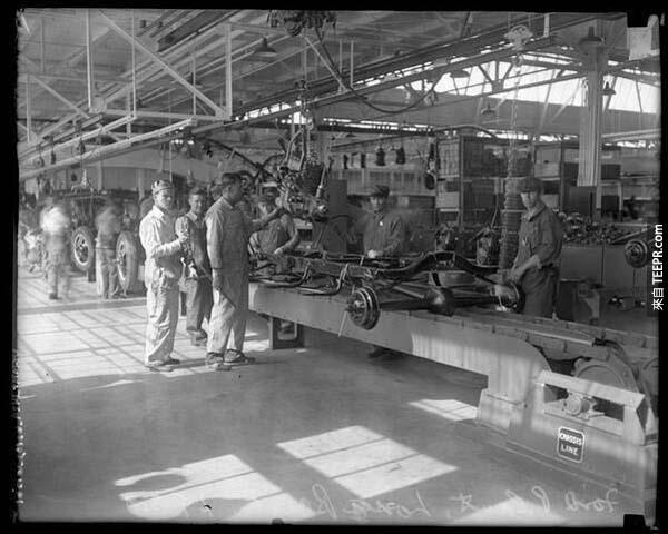 5)第一汽車製造廠在美國福特(1926)。