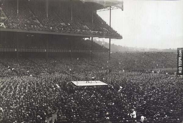 9)拳擊在揚基體育場(1923年)。