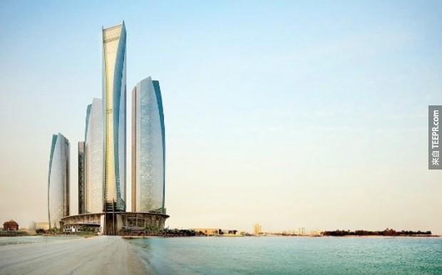 20. 阿聯酋聯合大廈 - 阿布扎比,阿拉伯聯合酋長國 (Jumeirah at Etihad Towers – Abu Dhabi, United Arab Emirates)