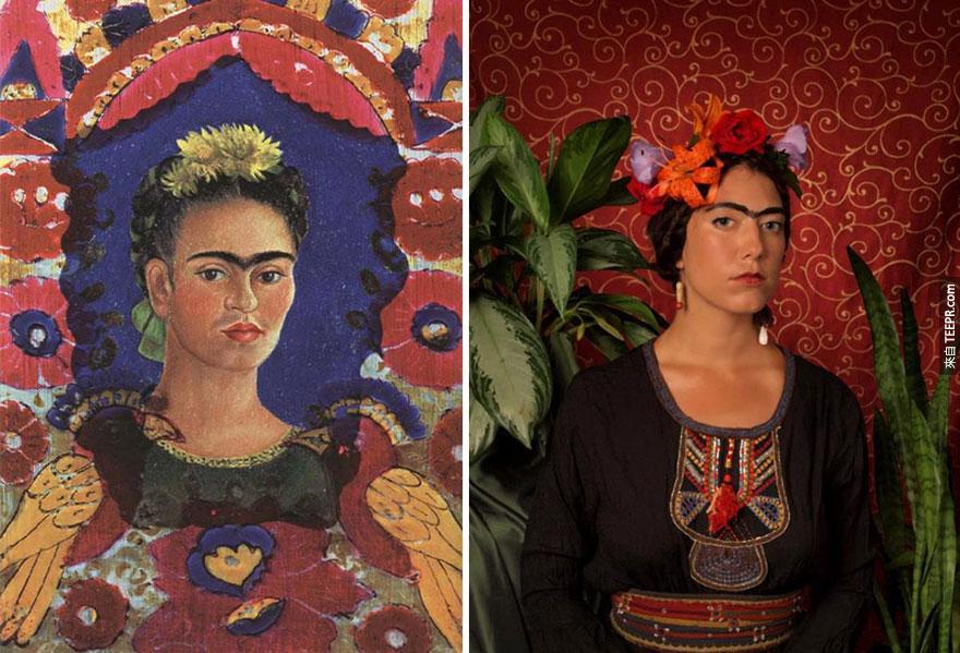"""""""自畫像"""" - 芙烈達·卡蘿 (Frida Kahlo)"""