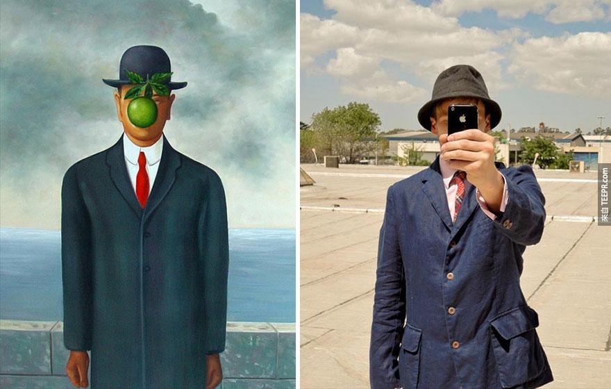 """""""人子"""" (Son of Man) - 雷內·馬格利特 (Magritte)"""