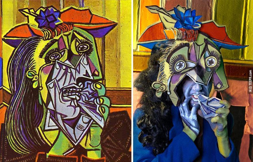 """""""哭泣的女人"""" (Weeping Woman)  - 畢卡索 (Picasso)"""