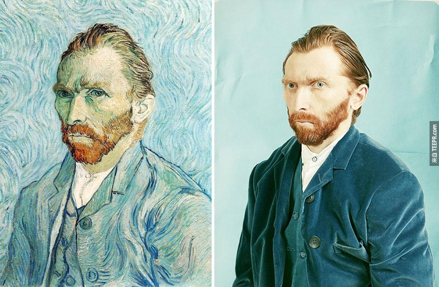 """自畫像1889""— 文生梵谷 (Vincent van Gogh)"