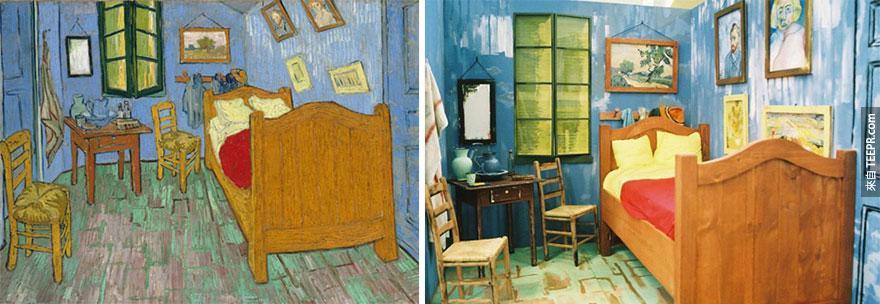 """""""阿爾的梵谷臥房"""" (Bedroom in Arles)  - 文生梵谷 (Vincent van Gogh)"""