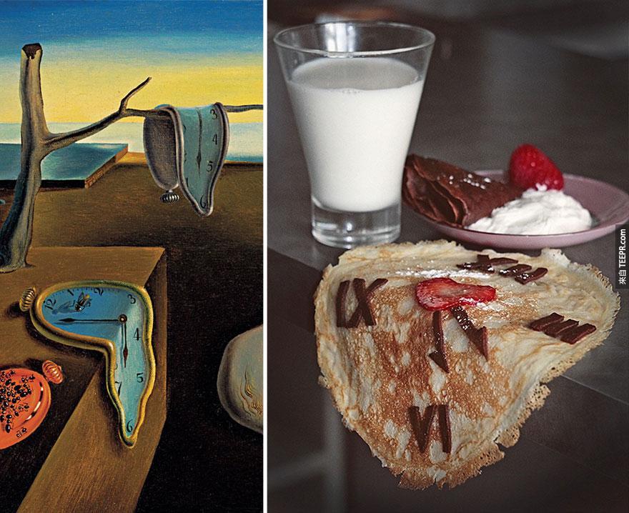 """""""記憶的堅持"""" (The Persistence of Memory) — 薩爾瓦多·多明哥·菲利普·哈辛托·達利 (Salvador Dalí)"""