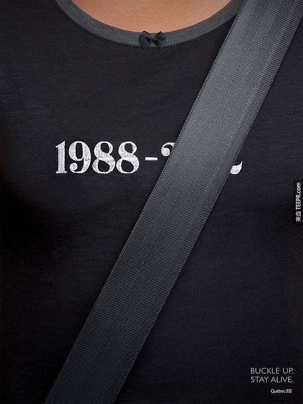 41.) 請繫安全帶。活下來。