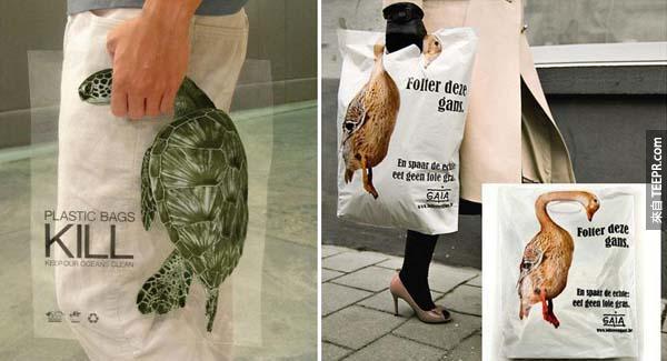 25.) 塑膠袋是殺動物兇手。