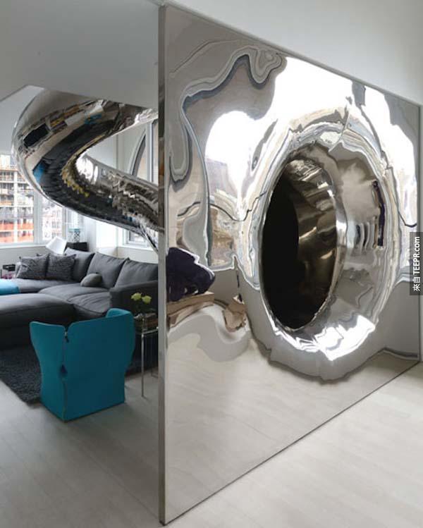 這間公寓是很漂亮沒有錯,但是最棒的其實是裡面的一個設施。我快嫉妒死了!