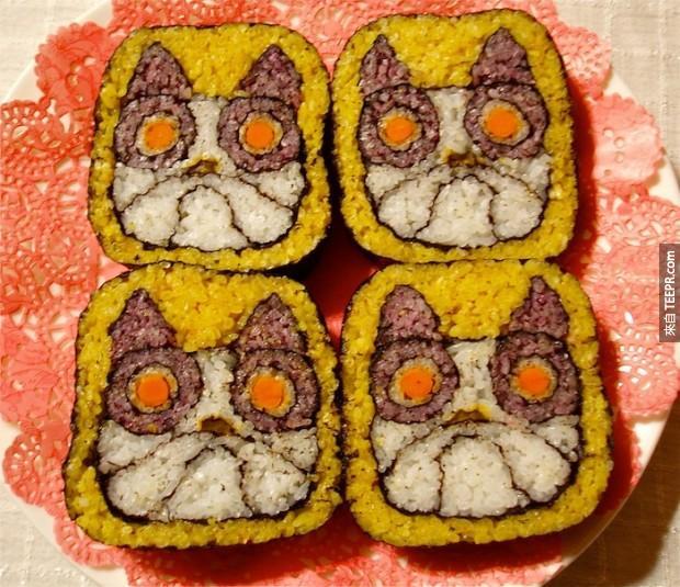 這20個壽司捲看起來很美味,但是你一定不會捨得吃它們的...看得肚子好餓!