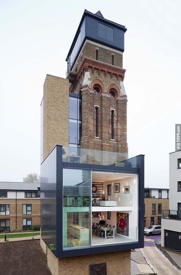3.)將水塔翻修成住家(位於英格蘭)。