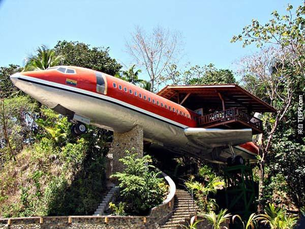 12.)位於哥斯大黎加的波音727飛機酒店。