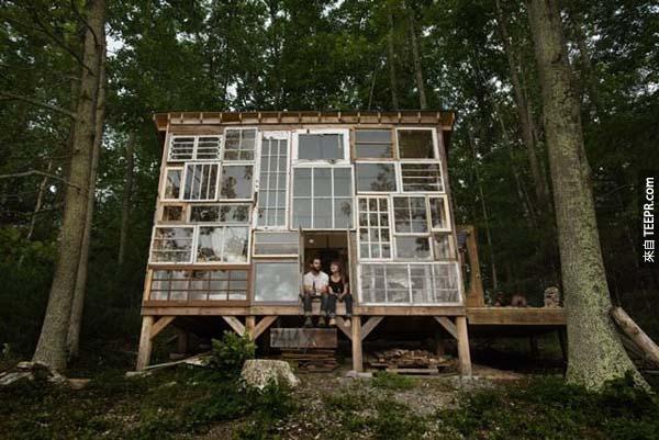 14.)位於西維吉尼亞州的玻璃屋。