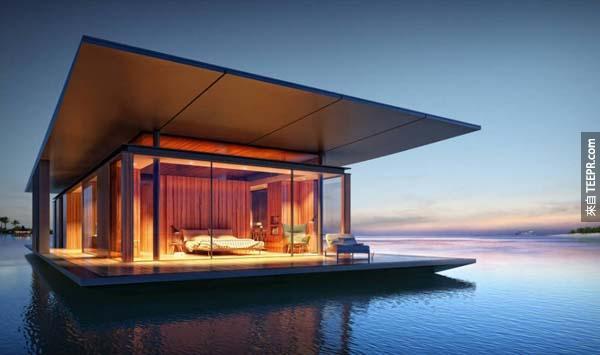 17.)由 Dymitr Malcew設計的水上之家,用漂浮的概念建構而成。