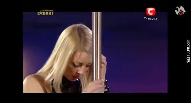 烏克蘭達人秀anastasia-sokolova的鋼管舞