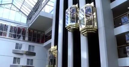這就是全世界最先進的電梯。它操作的方式會讓你撐不過10秒就發瘋!