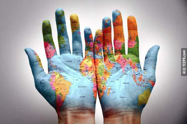 如果世界上只有100個人的話...會有11個住在歐洲、5個住在北美洲、南美洲9個、非洲15個,亞洲60個!
