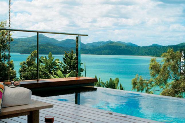 #24. 位在澳洲的誇里阿酒店(Qualia hotel),可以俯瞰大堡礁。
