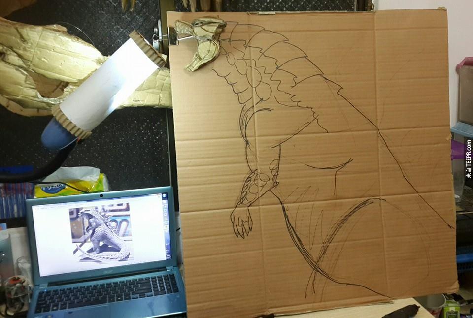 這個男生用紙板做出來的東西真的太不可思議了。我真的好想要跟他買一個!
