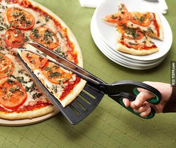 20.)這樣切pizza是不是方便許多呢!