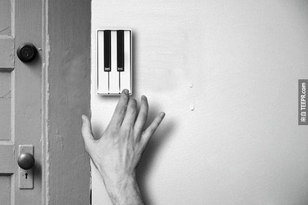 26.)鋼琴門鈴。