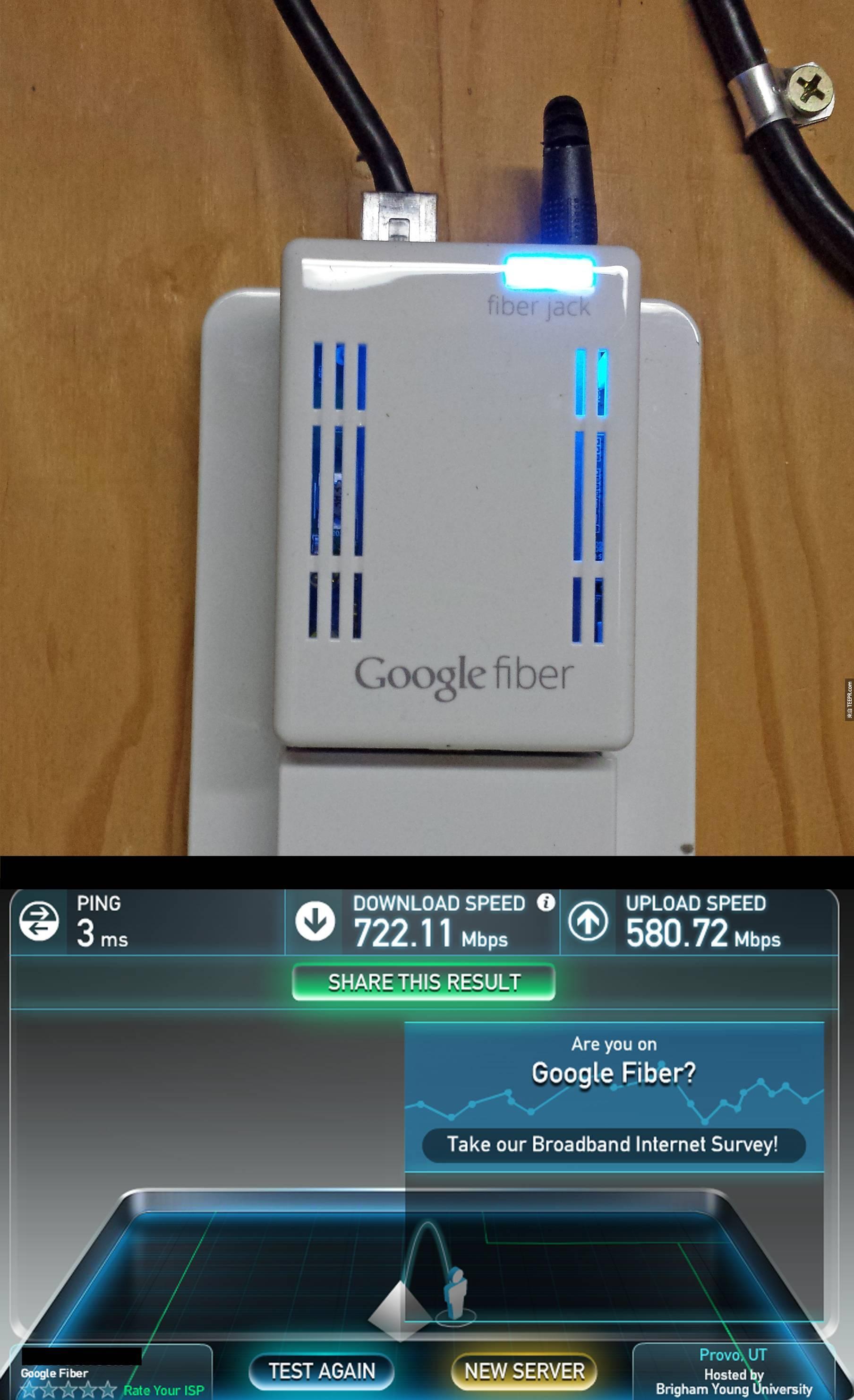 7. Google光纤 (Google Fiber) = 速度快到你以后下载任何东西都不会超过几秒。
