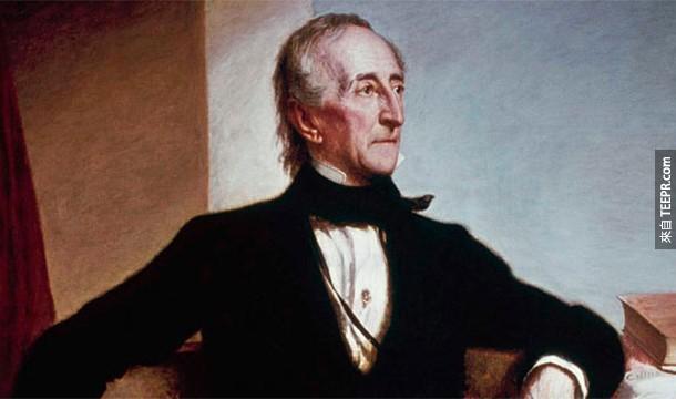 17.)約翰.泰勒,美國第10任總統,出生於1790年,他有一個孫子至今都還健在。