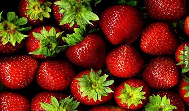 18.) 草莓並不是漿果類(berry)喔~