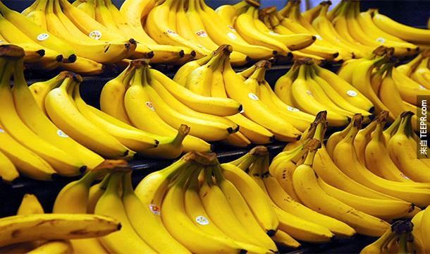 19.)香蕉卻是漿果類(berry)的成員~
