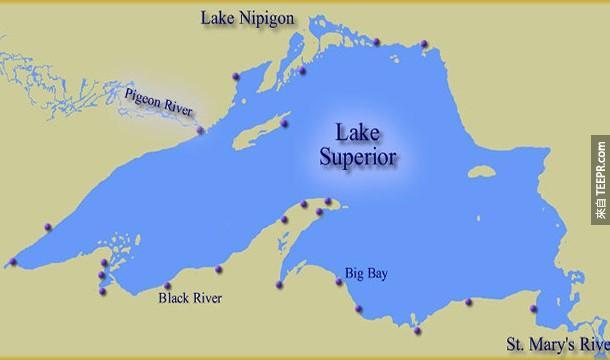20.) 蘇必略湖的水足以覆蓋整個北美和南美洲。
