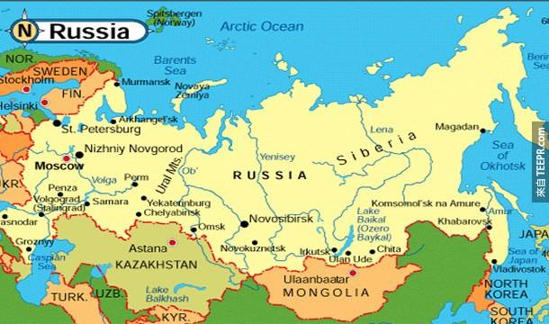 23.)北韓和挪威,只隔了一個國家,那就是俄羅斯!