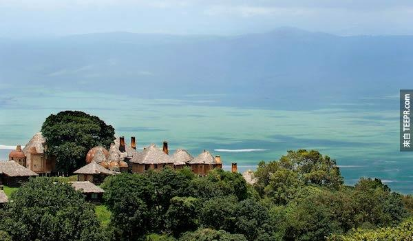 恩戈羅恩戈羅火山口旅館,坦桑尼亞。