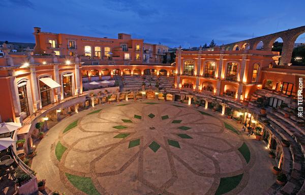 Quinta Real酒店薩卡特卡斯,墨西哥。