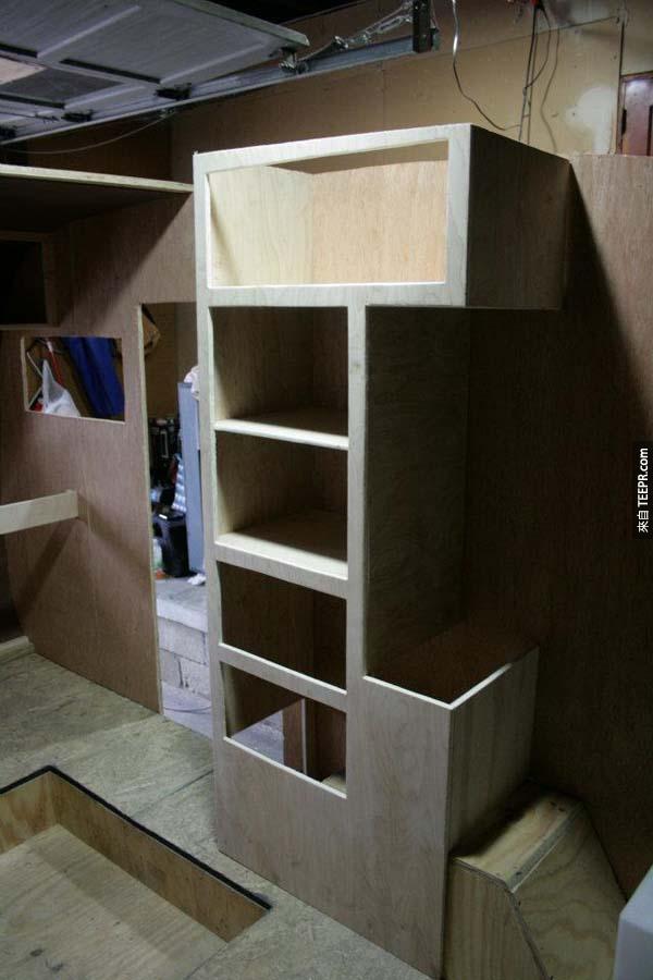 還有櫥櫃...