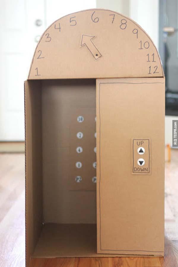 26.)為小孩蓋一部電梯,這個家長真的太幽默了。